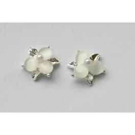 Luxusní květiny bílé 2 ks