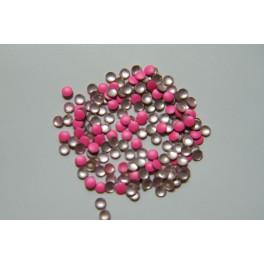 Lentilky neonově růžové 2 mm