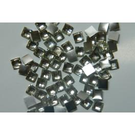 Kamínky čtvercové stříbrné 10 ks